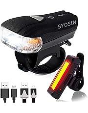 自転車ライト USB 充電式 LEDヘッドライト、テールライト セット スマートセンサー 400ルーメン高輝度 前照灯 防水 取り付けやすい 成人や子供用自転車兼用 日本語説明書付き
