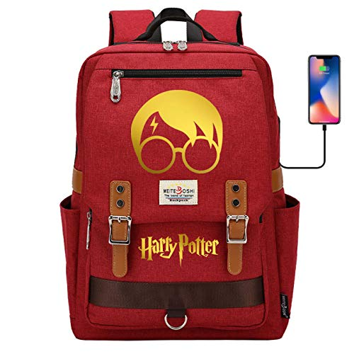 Lightweight and Large-Capacity Schoolbag is Suitable for Elementary and Middle School Youth Fashion Backpack #HT Red