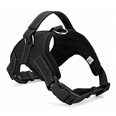 WIGGLE TAIL Dog Harness No Pull with handle, Reflective Adjustable Vest Harness for Small/Medium/Large dogs in Training Walking and Hiking
