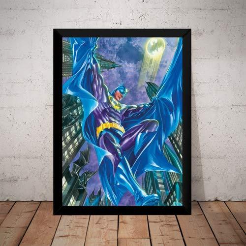 Quadro Batman Hq Arte De Alex Ross Poster Moldurado