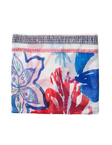Desigual Damen Foulard_Blue Flower Schal, Multicolor (blaue Blume - Blau), One Size (Herstellergröße: U)