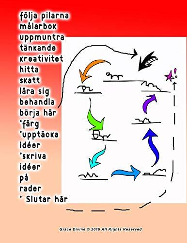 följa pilarna målarbok uppmuntra tänkande kreativitet hitta skatt lära sig behandla börja här *färg *upptäcka idéer *skriva idéer på rader * Slutar här