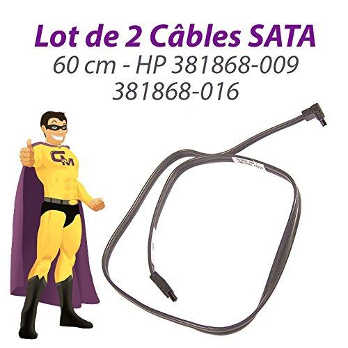2Stück Kabel SATA HP 381868–009381868–016ProLiant ML110DC580060cm dunkelgrau