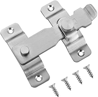 JQK Flip Door Latch, Heavy Duty Stainless Steel Bar Gate Latches Safety Door Lock, Brushed Finish, DL140-BN