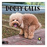 Gag Gift Dooty Calls - 2021 Hangable Wall Calendars by Red Ember Press - 12' x 24' When Open - Thick & Sturdy Glossy Paper - Pooping Dogs Puppies Puppy - The Perfect Gag Gift