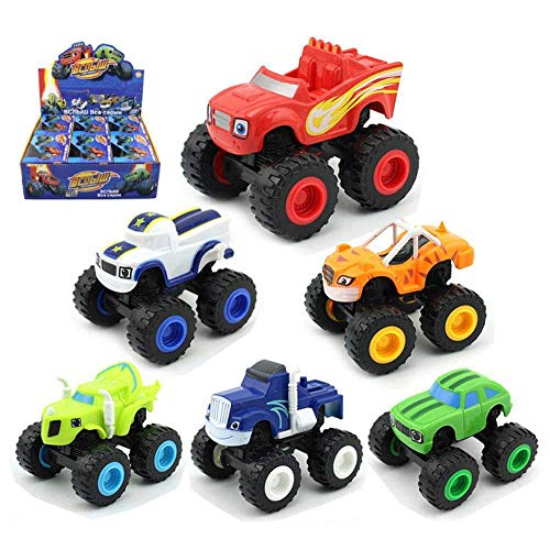 BEYOND YS Nickelodeon Blaze & the Monster Machines, 6 Pack Monster Machines Toys Scooters Car - Crusher Truck Vehicles Toys Gifts for Kids