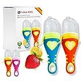 O³ Chupete Fruta Bebe - 2 Unidades con 6 Tetinas De Diferentes Tamaños -...
