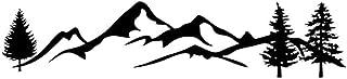 KinmyのためのSUV RVキャンピングカーオフロード1ピース100センチブラック/ホワイトツリーマウンテンカーの装飾ペット反射フォレストカーステッカーデカール