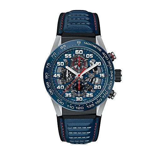 TAG Heuer Herren Uhr Chronograph Automatik mit Leder Armband CAR2A1N.FT6100