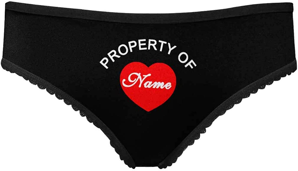Custom Name Underwear Property of Name Womens High-Cut Brief Panty