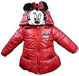 Disney - Chaqueta de invierno para niña, diseño de Minnie Mouse, color rojo, talla 62/68, 74, 80, 86 rojo 62-68 cm