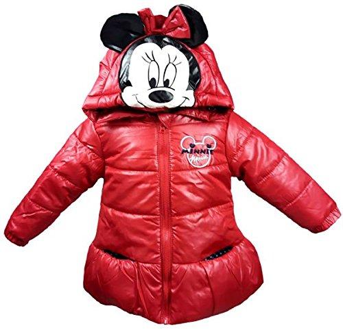 Blouson Manteau À Capuche Minnie Mouse (Rouge, 18 mois)