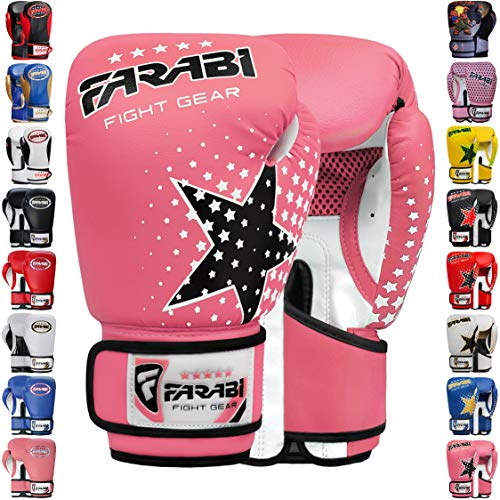 Farabi Boxing Gloves Kids Junior Muay Thai Kick Boxing