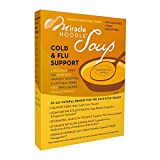 Miracle Noodle Cold And Flu Support Vegetarian Lemon Ginger Chicken Miso Soup, Just Add Water,...