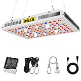 2000W Cree COB LED Grow Light, WILLS Dual Switch & Dual Chips Full Spectrum Growing Lamp with Thermometer Humidity Monitor for Hydroponic Indoor Plants Veg and Flower (Actual Power 426watt)