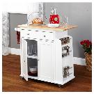 Alcott Hill Ferraro Kitchen Cart with Wooden Top & Reviews | Wayfair