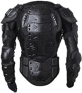 Goldfox Men's Motorbike Motorcycle Protective Body Armour Armor Jacket Guard Bike Bicycle Cycling Riding Biker Motocross Gear Black (Large)