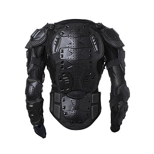 Walktorock OEM Men's Motorbike Motorcycle Protective Body Armour Armor Jacket Guard Bike Bicycle Cycling Riding Biker Motocross Gear Black With bag By Onewood (Medium)