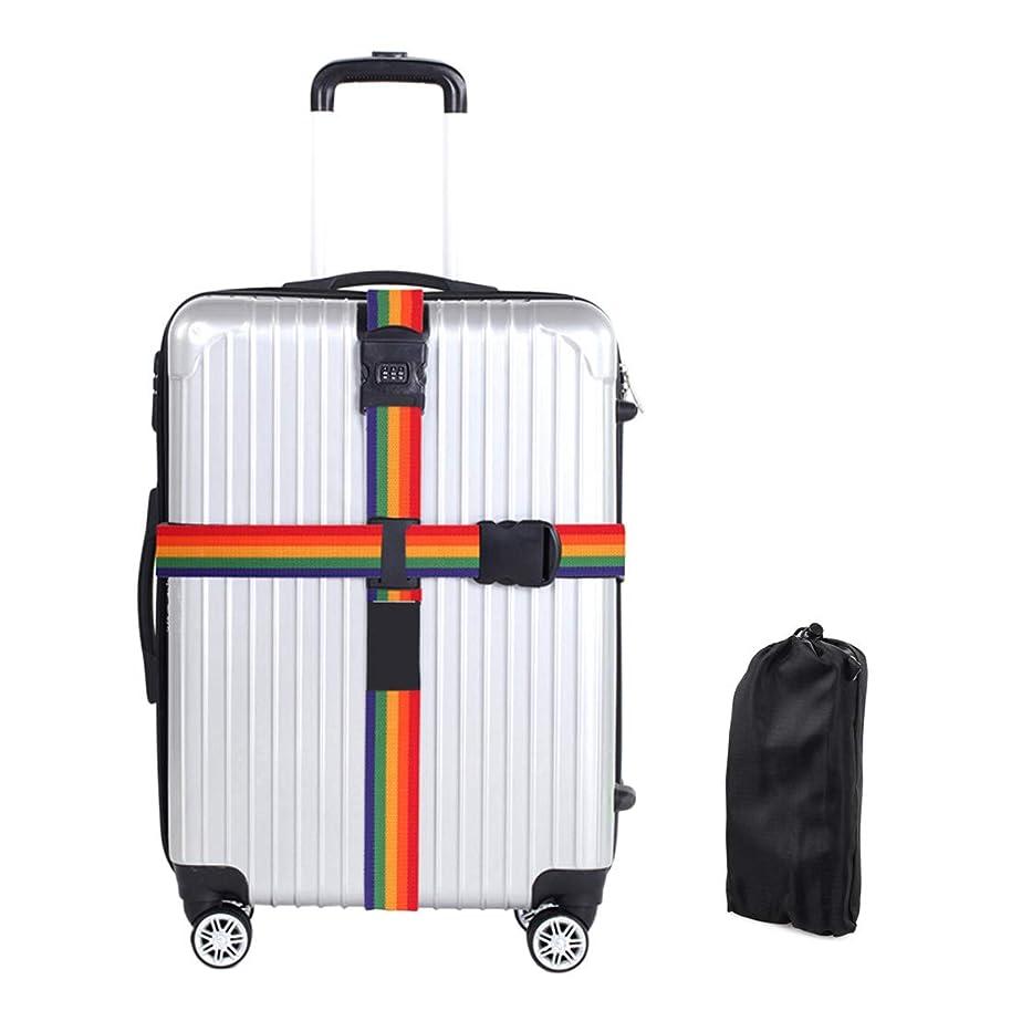 典型的なスキャンダラス失態(Enerhu)スーツケースベルト 2本セット ワンタッチ式ベルト 十字型 荷物ストラップ 調整可能 荷物固定バックル 荷崩れ防止 ベルト ナイロン 多色
