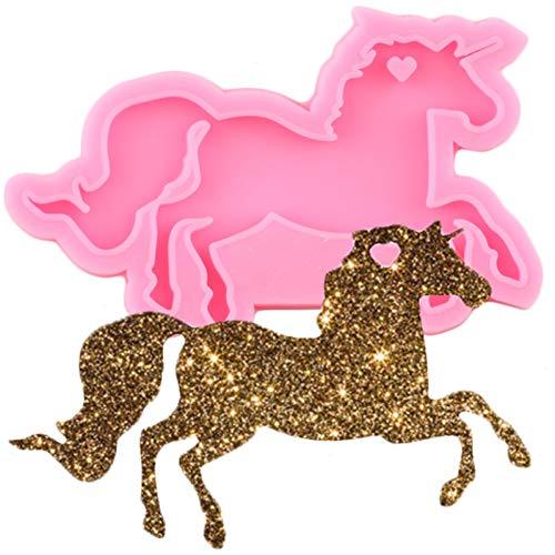 VIOYO Moldes De Silicona De Unicornio Brillante DIY Llavero De Camión Caballo Molde De Resina Epoxi Colgante FabricaciónLlaveroArtesanal