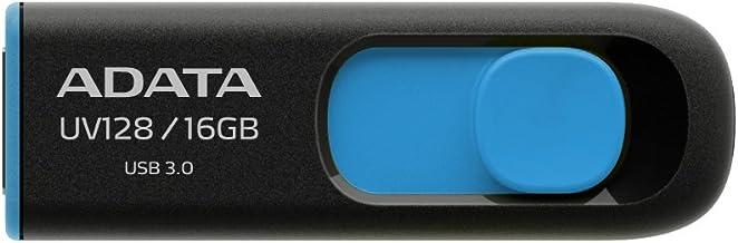ADATA Technology USB3.0直付型フラッシュメモリー DashDrive UV128 16GB (ブラック+ブルー) AUV128-16G-RBE