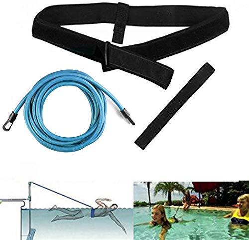 ZDFDC Cinturones de Entrenamiento de natación, Correa de Entrenamiento de natación, natación Fija de Amarre de natación, Bandas de Resistencia de Cuerdas elásticas de natación