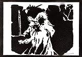 Poster Gandalf Le Seigneur des Anneaux Affiche The Lord of the Rings Handmade Graffiti Street Art - Artwork