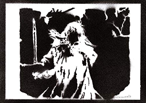 Poster Gandalf Il Signore degli Anelli The Lord of the Rings Handmade Graffiti Street Art - Artwork
