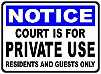 裁判所は私的使用のためですティンサイン壁鉄の絵レトロなプラークヴィンテージ金属板装飾ポスターおかしいポスター吊り工芸品バーガレージカフェホーム