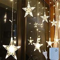 8モードクリスマスライト屋外/屋内、2.5M LEDフェアリーライトフェアリーランプ、LEDポラリスカーテンライト、クリスマスガーランドライト、ガーデンライトパーティーデコレーション-
