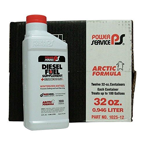 Power Service Diesel Fuel Supplement + Cetane Boost - 12/32oz. Bottles (0.375 Ounce Bottles)