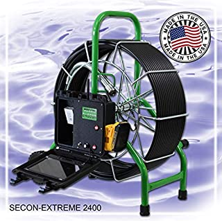 SECON-Extreme 200' Mainline Cordless Color Sewer Camera Made in The USA by Sewer Equipment Company of Nevada Designed for 3