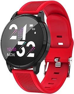 SZJNL Reloj Inteligente Smartwatch Pulsera Actividad Reloj Inteligente Deportivo para Hombre Mujer Fitness Pantalla Táctil Completa Pulsómetro Cronómetros,D