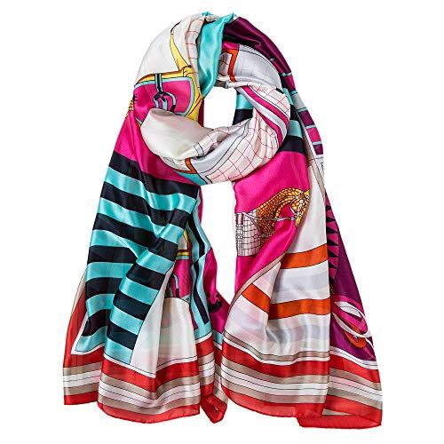 ALBERTO CABALE Zijde Sjaal Vrouwen Anti-allergie Mode Elegante Bloemen Luxe Sjaal Gift voor Dames