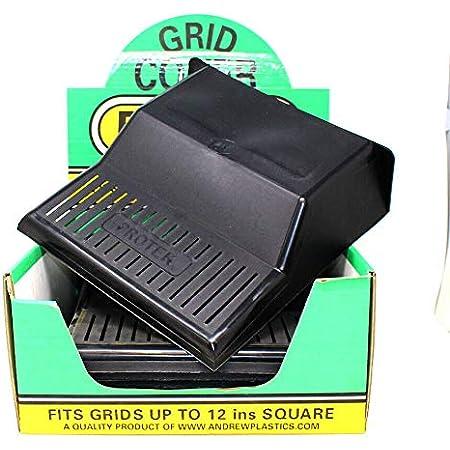 "2 X Drain Cover 12/""x11/"" Black Plastic Grid Cover Ventilated"