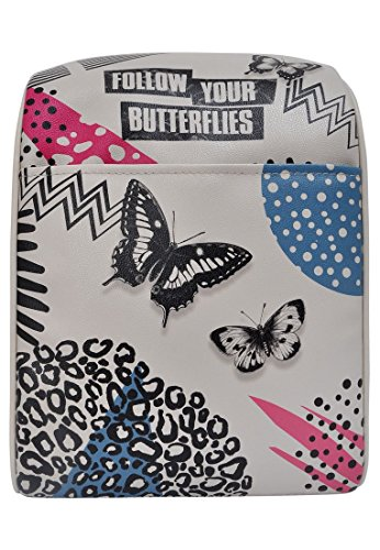 DOGO Damen Rucksack - Kleiner Tagesrucksack - veganes Leder - Smally Bag - Follow Your Butterflies