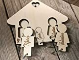 Portachiavi in legno personalizzabile per i nonni - IDEA BELLISSIMA