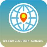 ブリティッシュコロンビア州 カナダ 地図オフライン