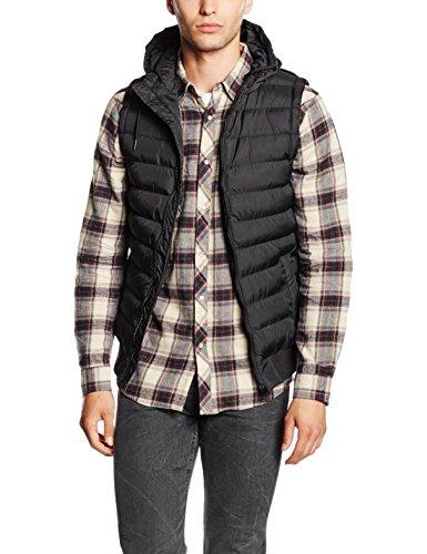 Urban Classics Small Bubble Hooded Vest Weste blackblack, XXL