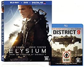 ELYSIUM / DISTRICT 9 Exlcusive Blu-ray 2-pack (Both AWESOME Movies Together) Matt Damon, Jodie Foster, Sharto Copley
