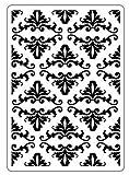 Darice Carpeta de estampación con diseño Flor de lis, Plastic, 10.8 x 14.6 cm