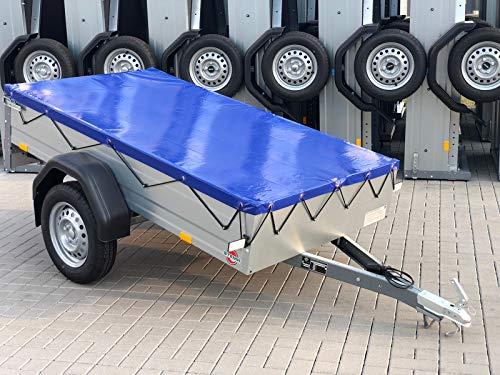 Systafex® Flachplane 201x108cm Anhänger Plane für Stema FT Opti AN 750 DBL 850 inkl. Planenseil