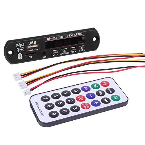 Monland MóDulo de Audio del Tablero del Decodificador de MP3 InaláMbrico del Coche Remoto Radios USB FM