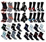 Disney Socks And Underwear – Calcetines para hombre Marvel, Vengadores, Dc Comics de algodón, varios modelos de fotos según disponibilidad, multicolor Pack de 10 pares Talla única