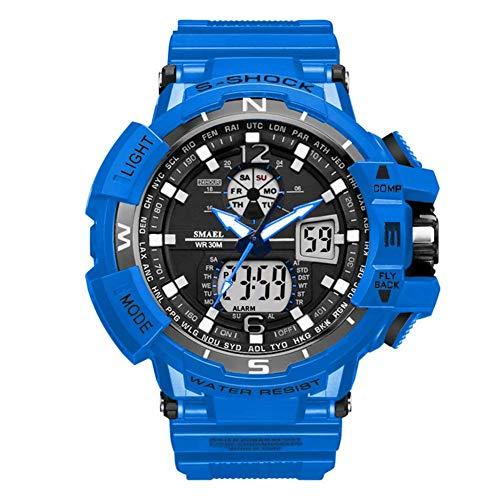 For hombre reloj de los deportes al aire libre, relojes digitales a prueba de agua con cuenta regresiva / temporizador, a prueba de golpes analógica LED corriente del hombre reloj de pulsera jianyou