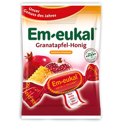 Em-eukal Granatapfel-Honig Hustenbonbons, 75 g Bonbons