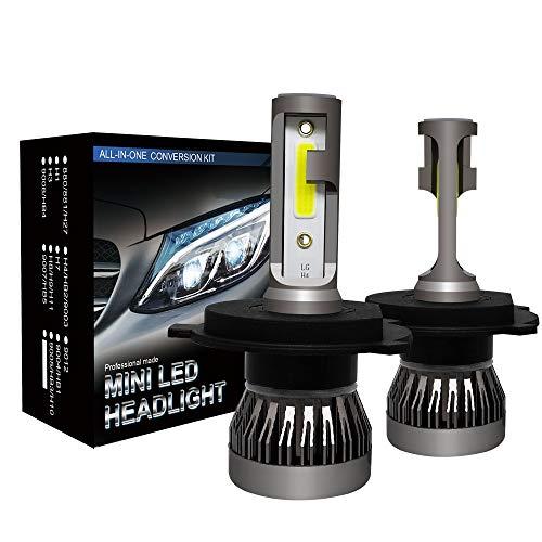 2 PCS Coche LED Faro Super Bright H1 H4 H7 H8 H9 H11 9005 9006 9012 AUTOMÁTICO AUTOMÁTICO CABEZA DE CABEZA LÁMPARAS DE ESTILO DE CABE Bombilla de seguridad (Socket Type : H4/9003/HB2 Hi/Lo)