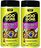 Goo Gone Adhesive Remover Arts and Crafts Clean Up Wipes - 24 Wipes (Pack of 2)