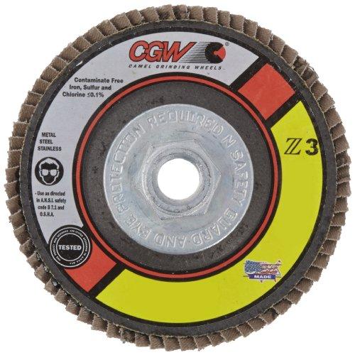 CGW 42332 Premium Z3 Right Angle Grinder Abrasive Flap Disc, Type 29, Zirconia, 4-1/2