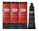 Tinte permanente L'OreaI Excel Hicolor rojo y rubio para cabello oscuro, 49,29 g (3 unidades)